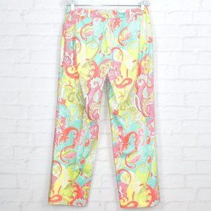 Madison Pants & Jumpsuits - MADISON STUDIO Paisley Pants in Pastel Colors
